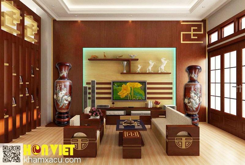 Lộc bình Huế - Trang trí nội thất & Đồ gỗ khảm xà cừ Hồn Việt