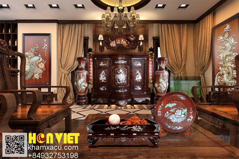 Trang trí nội thất & Đồ gỗ khảm xà cừ Hồn Việt