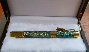 Abalone Paua shell ballpoint and fountain pen