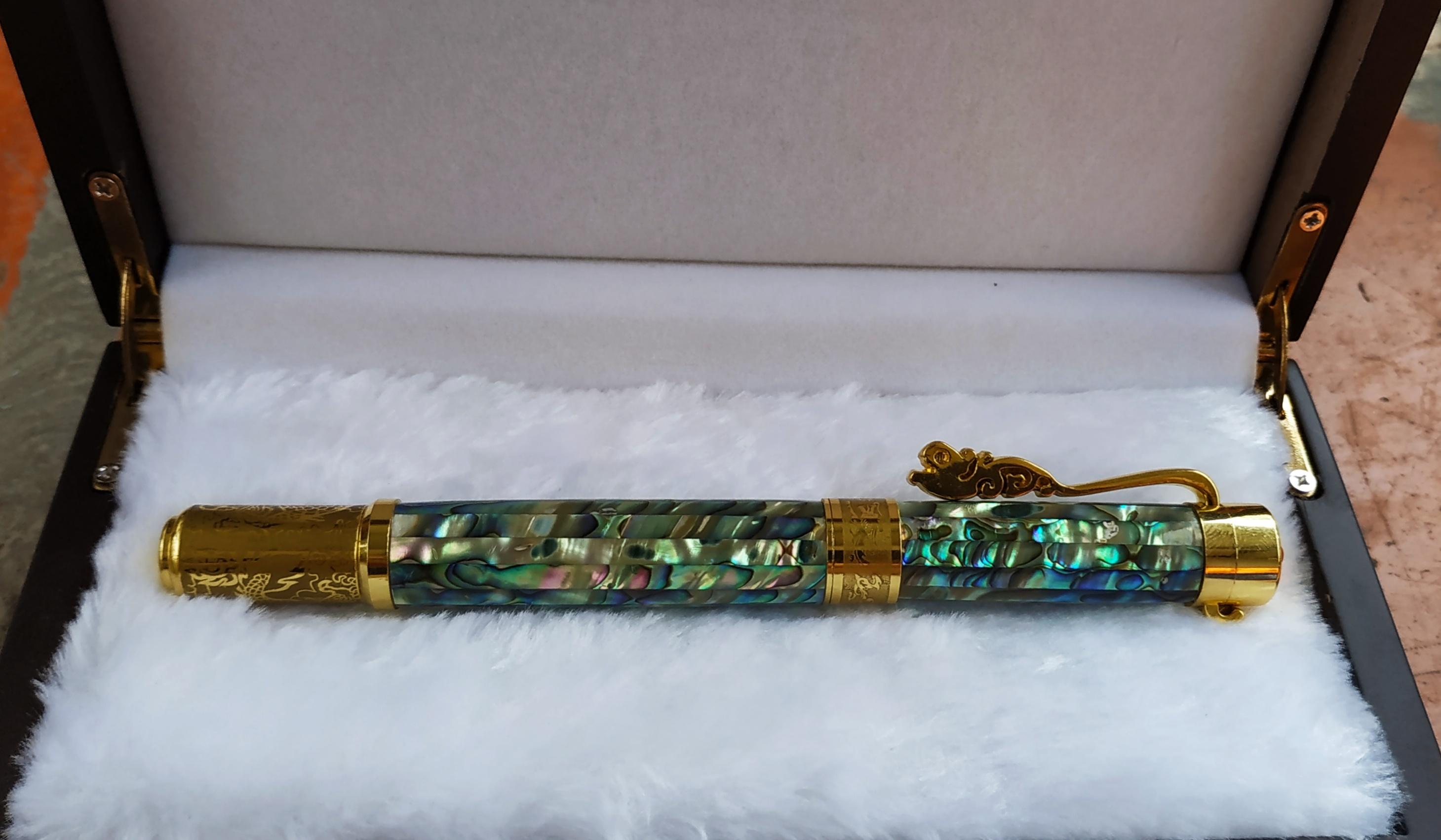 Abalone Paua shell ballpoint and fountain pen