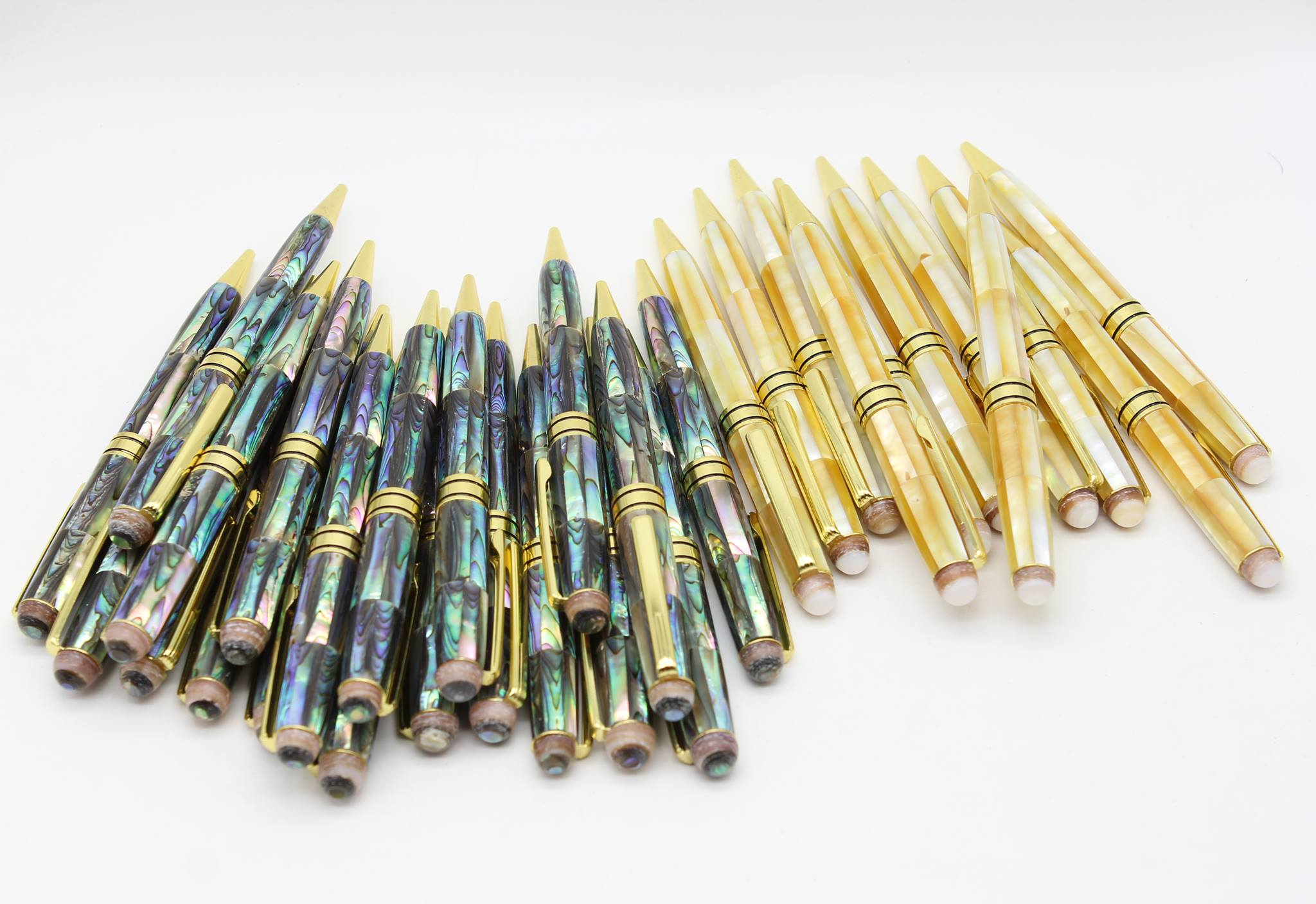 Mother of Pearl ballpoint and fountain pens Handmade